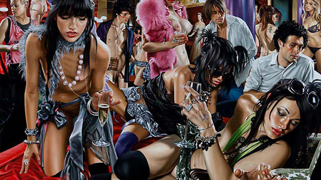 Terry Rodgers Oil paintings debauchery and orgy