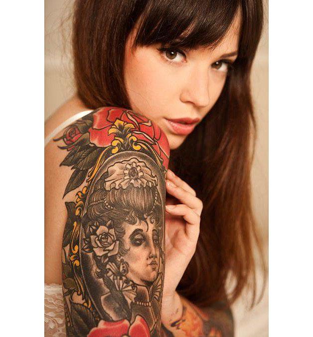 Фото русских татуированных девушек